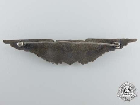 Pilot Wings (with silvered bronze) Reverse