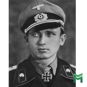An unknown German soldier wearing a Knight's Cross