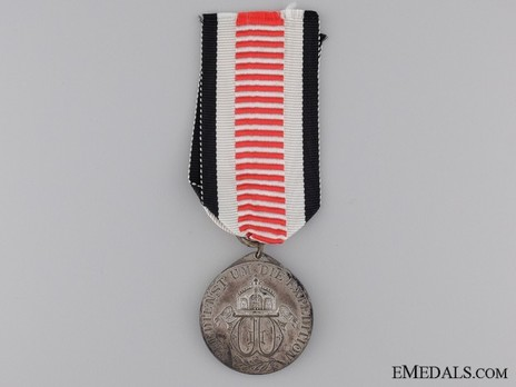 South Africa Campaign Medal, for Non-Combatants (in silvered steel) Reverse