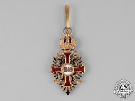 Order of Franz Joseph, Type II, Military Division, Commander (lower grade) Reverse