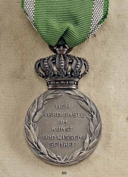 Medal for Art and Science, Type III, in Silver with Crown
