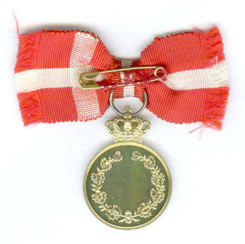 Silver-gilt Medal Reverse with crown
