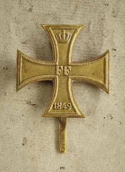 Military Merit Cross, Type I, I Class Cross (pin back, 1849)