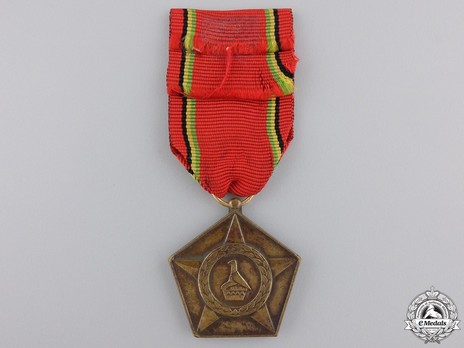 Liberation Medal, in Bronze Reverse