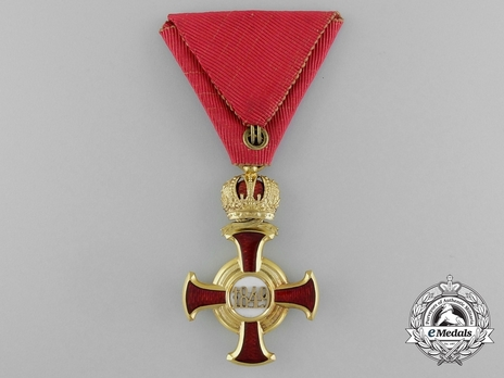 "Merit Cross ""1849"", Type II, I Class Cross (with crown) Reverse"