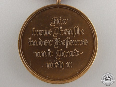 Reserve Long Service Decoration, Type II, II Class Bronze Medal  (in bronzed tombac, 1913-1921)