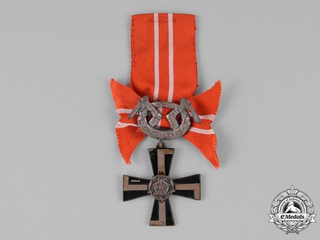 Order of the Cross of Liberty, IV Class Cross, Military Division (1918) Obverse
