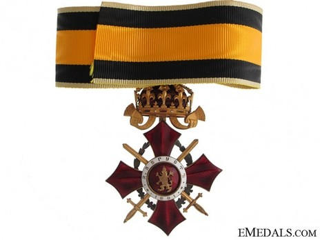 Order of Military Merit, III Class (with war decoration 1916-1933) Reverse