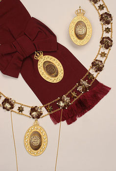 Order of al-Hussein bin Ali, I Class Collar Obverse
