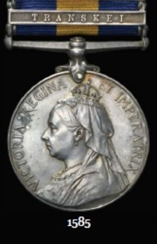 """Cape of Good Hope General Service Medal (with """"TRANSKEI"""" clasp)"""