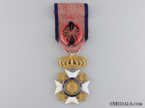 Royal Order of Francis I, I Class Knight's Cross (in gold) Obverse