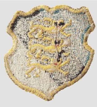 Waffen-SS Estonian Volunteer Arm Shield (1st pattern) Reverse