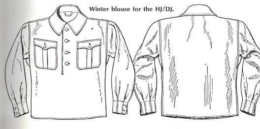 HJ Winter Blouse Obverse & Reverse