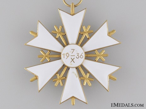 Order of the White Star, II Class Cross Reverse