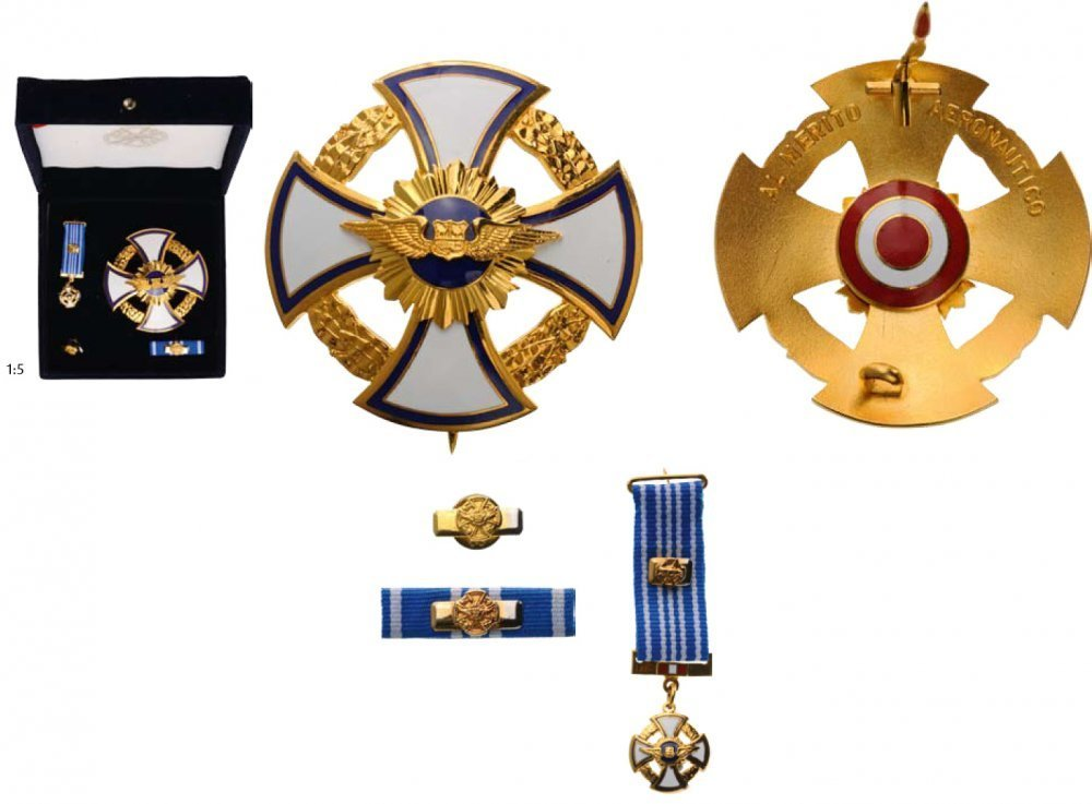 Grand cross breast star and miniature gilded bronze obv2
