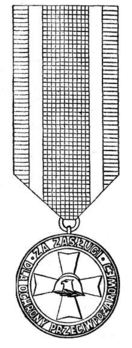Decoration for Merit in Fire Protection, I Class Obverse