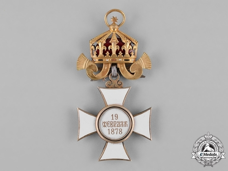 Order of St. Alexander, Type II, Military Division, Grand Cross Reverse