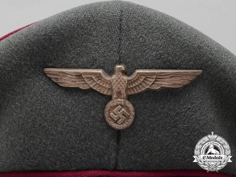 German Army Smoke & Chemical Officer's Visor Cap Eagle Detail
