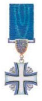 Order of the Cross of Terra Mariana, V Class Cross Obverse