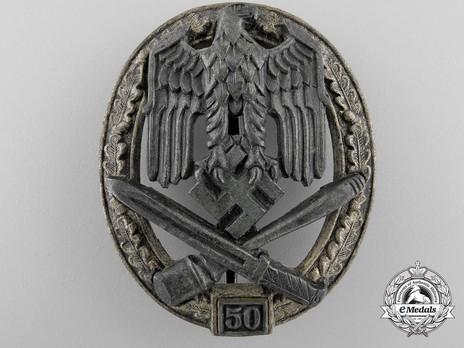 """General Assault Badge, """"50"""" Obverse"""