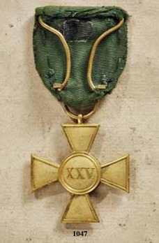 Military Long Service Decoration, Type I, Cross for 25 Years
