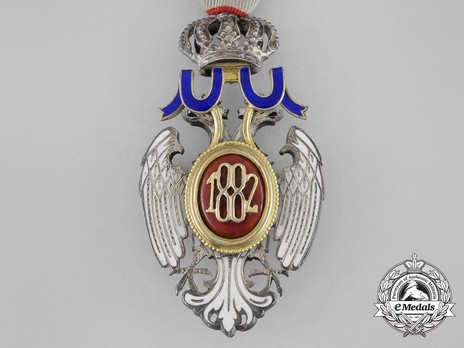 Order of the White Eagle, Type II, Civil Division, V Class Reverse