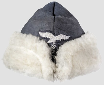 Luftwaffe Winter Field Cap (Leather version) Obverse