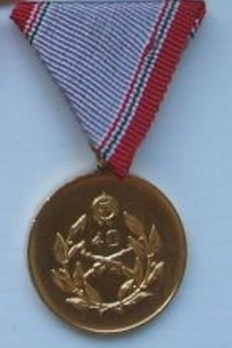 National Defence Long Service Medal, I Class Obverse