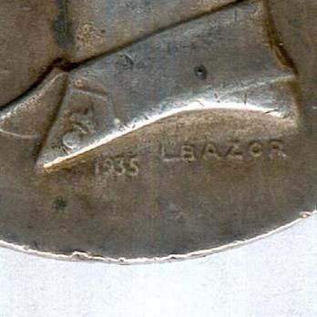 """Silver Medal (stamped """"1935 L BAZOR,"""" 1935-) Details"""