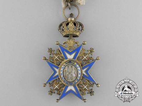 Order of Saint Sava, Type III, IV Class Reverse
