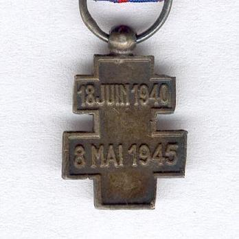 Miniature Silver Cross Reverse