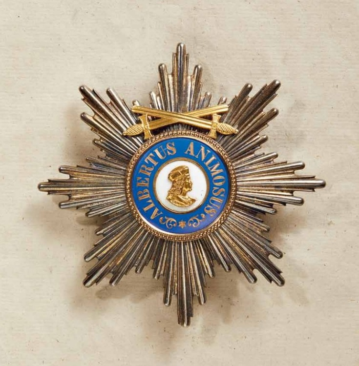 Albert+order%2c+type+ii%2c+military%2c+grand+cross+breast+star+w+swords%2c+swords+on+ring+1879 1918%2c+obv+