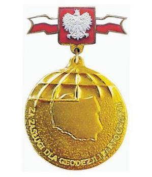 Decoration for Merit to Geodesy and Cartography Obverse