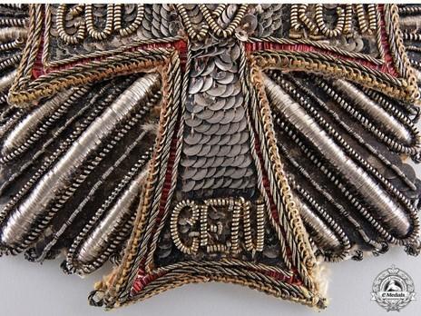 Order of Dannebrog, Grand Cross Breast Star (Red Bullion) Obverse