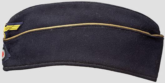 Kriegsmarine Blue Officer Ranks Board Cap Left
