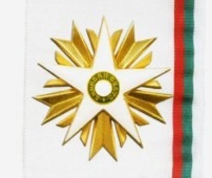 Order of Stara Planina,  I Class Breast Star Obverse