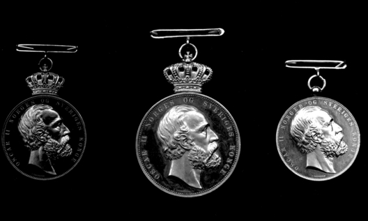 Medal for Heroic Deeds, Silver Medal (with crown Oscar II) Obverse