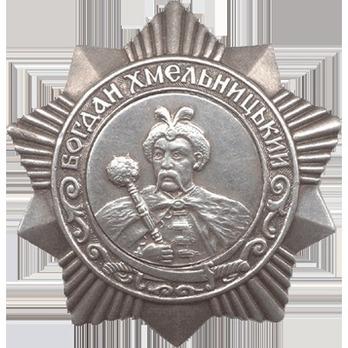 Order of Bogdan Khmelitsky III Class Medal Obverse