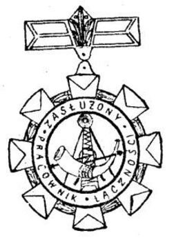 Decoration for Meritorious Communications Workers, I Class Obverse