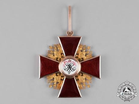 Order of Saint Alexander Nevsky, Type III, Civil Division, Badge (in gold) Reverse