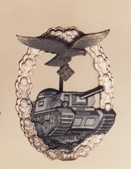 Luftwaffe Panzer Assault Badge, in Silver Obverse