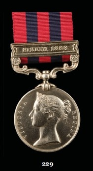 """India General Service Medal (1854) (with """"SIKKAM 1888"""" clasp)"""