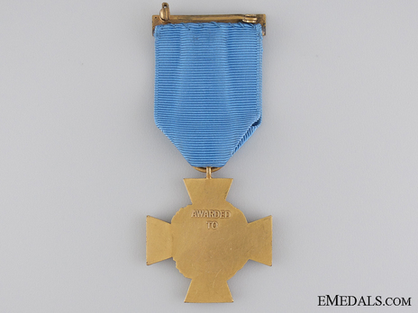 "Decoration (""Tiffany Cross,"" 1919-1942) Reverse"