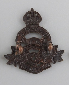 Army Pay Corps Other Ranks Collar Badge (with Six Leafs) Reverse