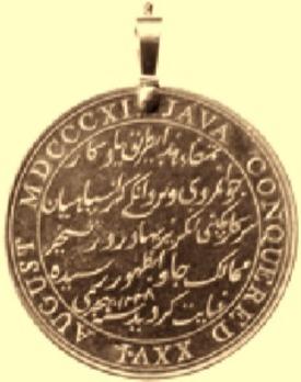 Java Medal, in Gold Reverse