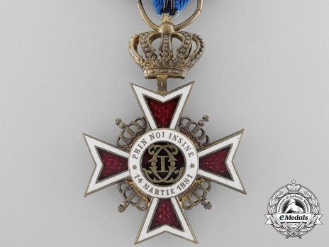 Order of the Romanian Crown, Type I, Knight's Cross Obverse