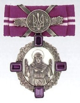 Order of Princess Olga, III Class Badge Obverse