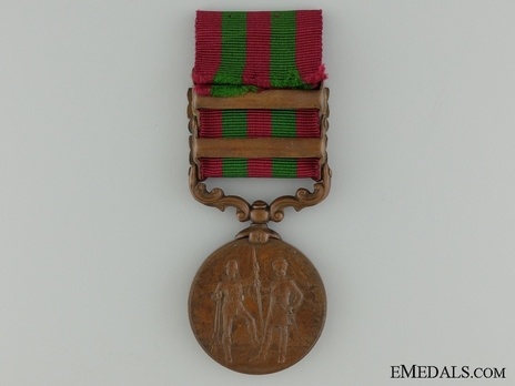 "Bronze Medal (with ""PUNJAB FRONTIER 1897-98"" and ""TIRAH 1897-98"" clasps) (1896-1901) Reverse"