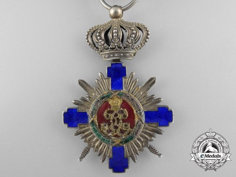 The Order of the Star of Romania, Type I, Military Division, Officer's Cross (wartime) Reverse