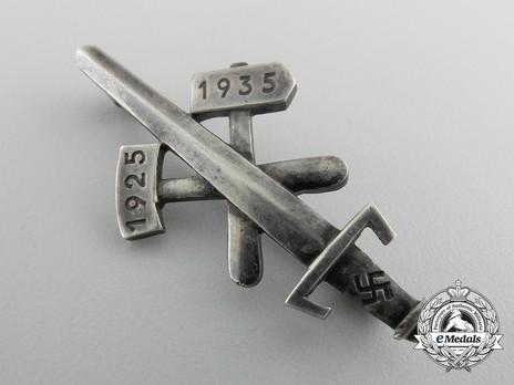 Gau Honour Badge Essen, in Silver Obverse